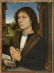 Hans Memling. Jeune homme en prière.