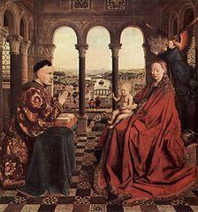 Van Eyck. La vierge du chancelier Rolin.