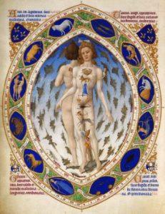 2-Anatomie humaine et zodiaque, enluminure des Très Riches Heures du duc de Berry-WEB