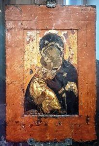 3-Vierge de Vladimir-icone byzantine parvenue en Russie au XIIe siècle, Galerie Tretiakov-CAWEB