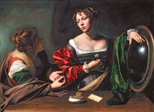 Martha and Mary Magdalene *oil and tempera on canvas *97.8 x 132.7 cm *circa 1598