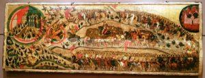 5-icone « Bénis soient les guerriers du Roi des cieux » vers 1552, Galerie Tretiakov_CADOC