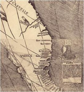 1ère mention de l'Amérique - Cosmographiae Introductio-CA