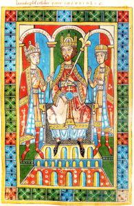 5 Frédéric Ier Barberousse entouré de ses deux fils - Copie