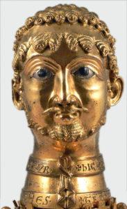 6 Buste en bronze doré de Frédéric Barberousse, vers 1160 - Copie