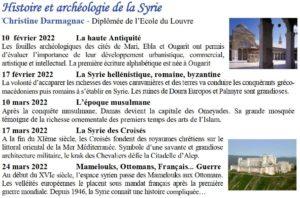 Histoire et archéologie de la Syrie